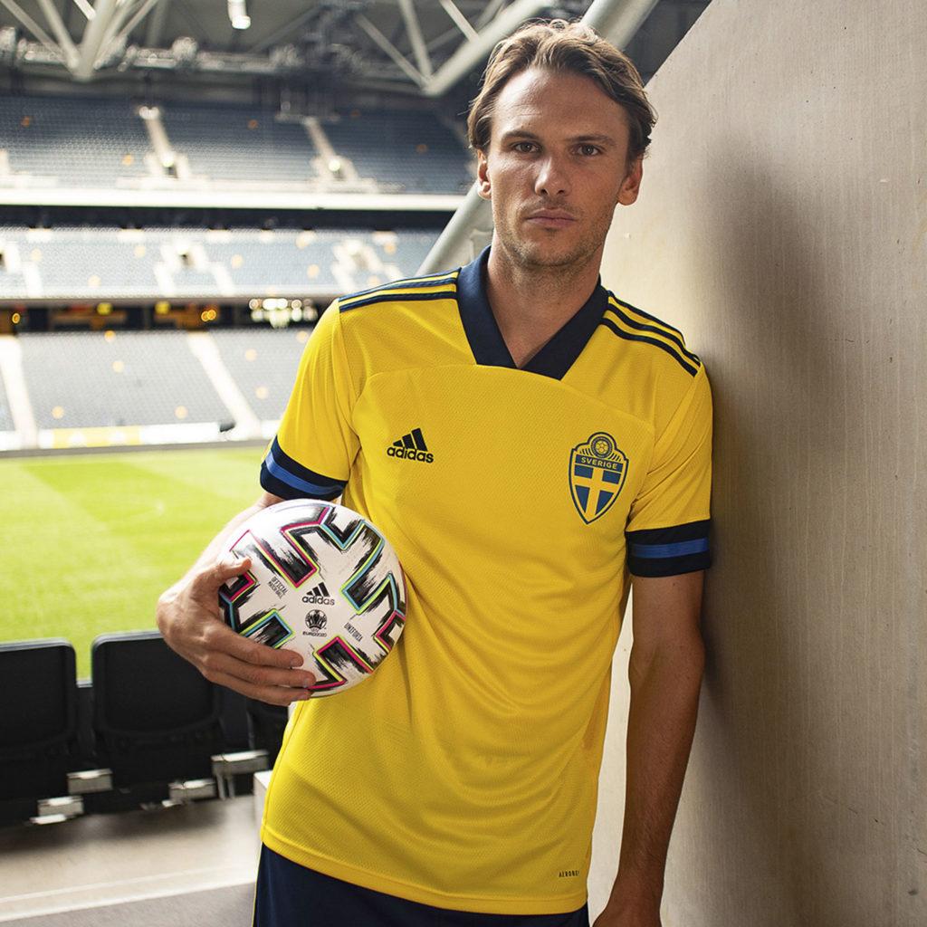 SWEDEN HOME KIT 2020 - 21   UEFA EURO 2020