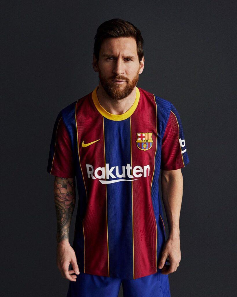 FC BARCELONA HOME KIT 2020/2021 - MESSI, SUAREZ, GRIEZMANN, DE JONG, DEMBÉLÉ
