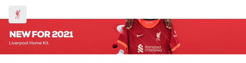 Liverpool FC Home Kit 21/22