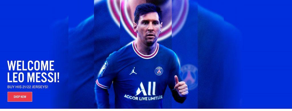 Lionel Messi Paris Saint-Germain Home Kit 21/22